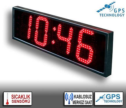 MERKEZİ Dijital Saat (İç/Dış Mekan) 20cm x 71cm (Rakam Yüksekliği 16cm)