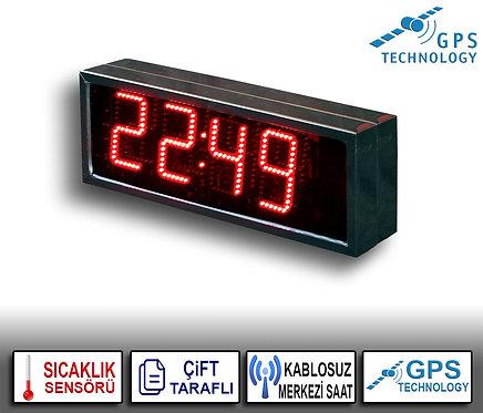 MERKEZİ Dijital Saat (İç/Dış Mekan) 21cm x 39cm (Rakam Yük. 15cm)