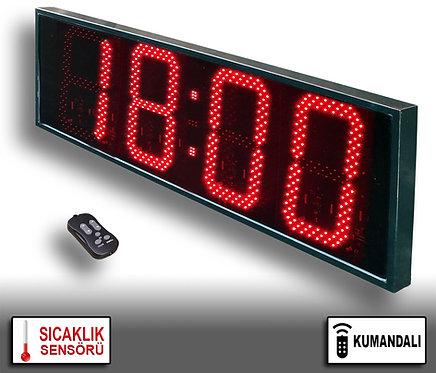 LED Dijital Saat (İç/Dış Mekan Saat) 38cm x 113cm (Rakam Yük. 30cm) Kumandalı