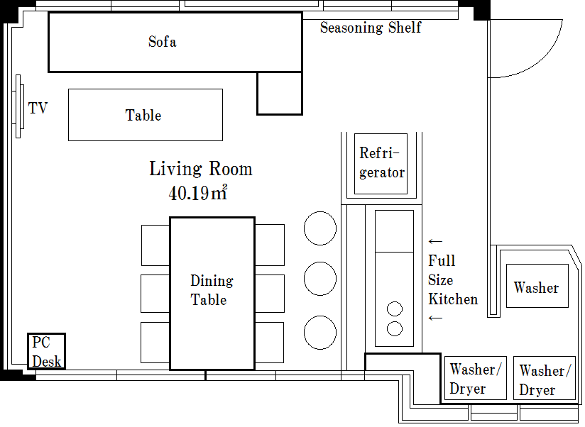 Living Room 図面