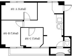 築地シェアハウス_図面【401号室】