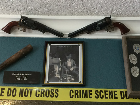 Broward's first sheriff, A.W. Turner, South FL Crime Museum