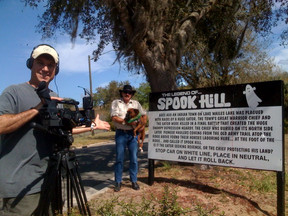 Weird FL Production team at Spook Hill in Lake Wales, FL