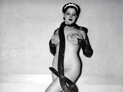 Zorita the Snake Dancer, a burlesque dancer who lived in Stuart FL.