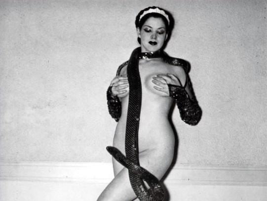 Zorita the Snake Dancer, a burlesque dancer who lived in Stuart FL.