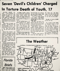 Article regarding cult murder in Daytona Beach
