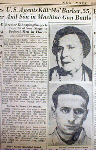 Newspaper article after the shooting