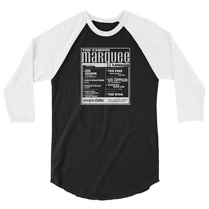 Marquee/Zeppelin December 18th - 3/4 sleeve raglan shirt