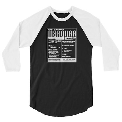 Marquee/Zeppelin March 28th - 3/4 sleeve raglan shirt