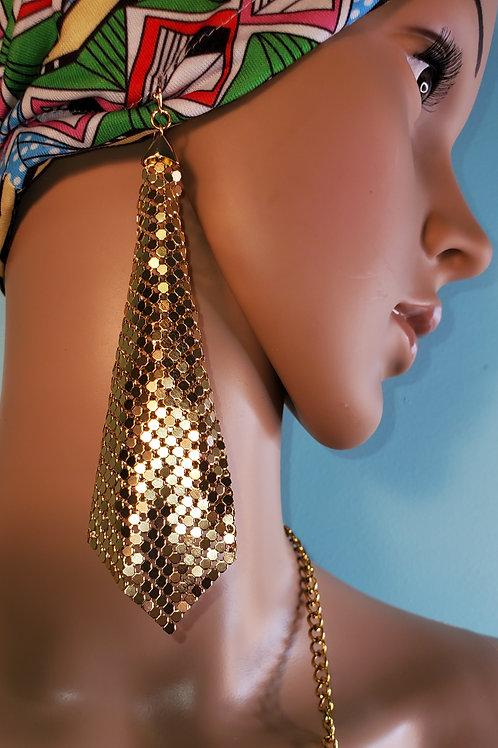 Drape Metal Gold Earrings