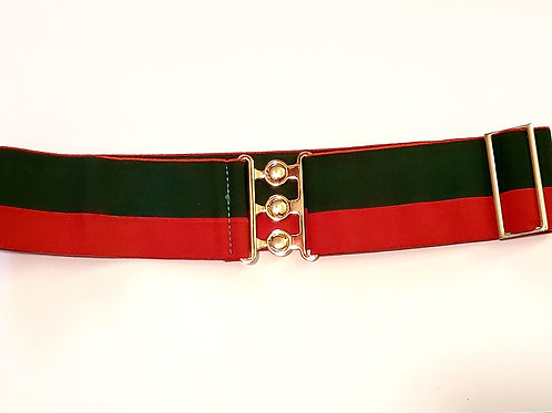 Elastic Stretch Adjustable Belt with Gold Latch