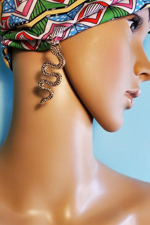 Gold Snake Earrings
