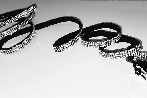 Mini Black/Rhinestone Belt