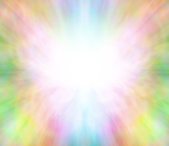 Ethereal healing angel light background.
