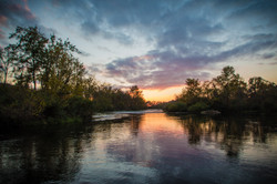 Awesome Sunset on the Watauga River