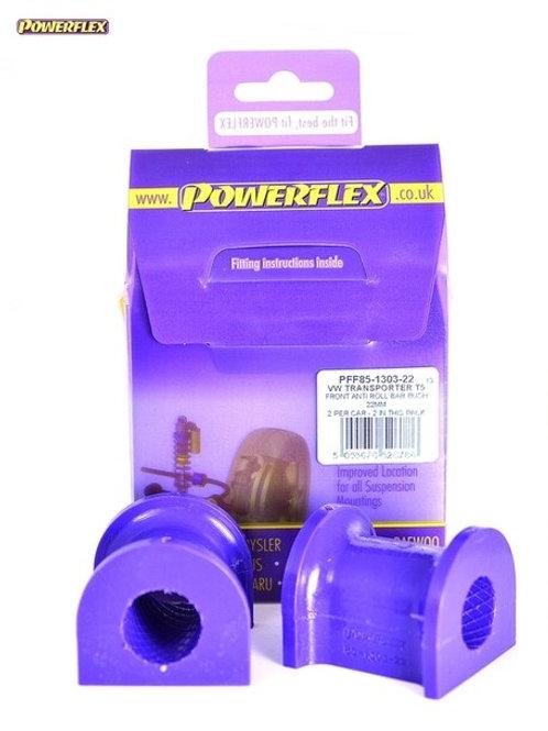 T5 POWERFLEX FRONT ANTI ROLL BAR BUSHES 22MM