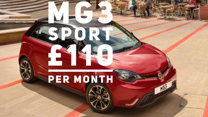 MG3 1.5Sport £110+Vat