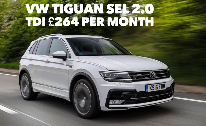 VW Tiguan SEL 2.0 TDI £264 per month