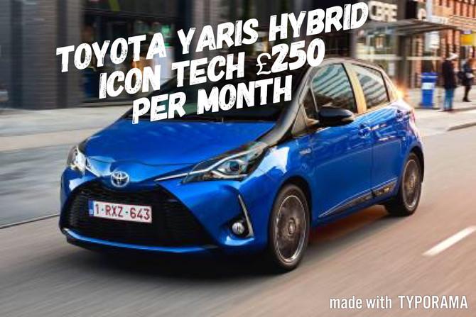 Toyota Yaris Hybrid Icon £250 per month