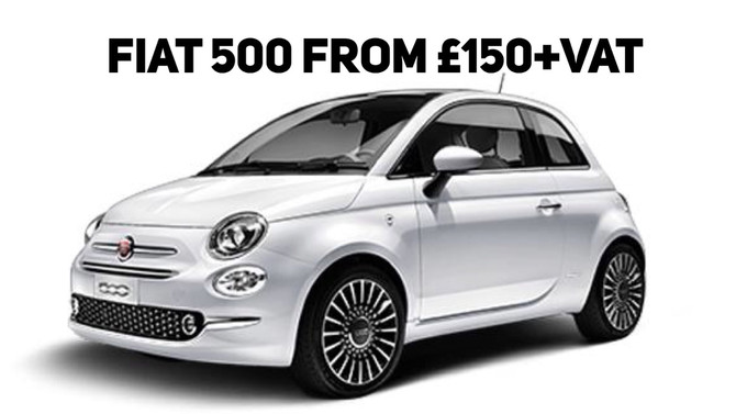 Fiat 500 From £150+Vat