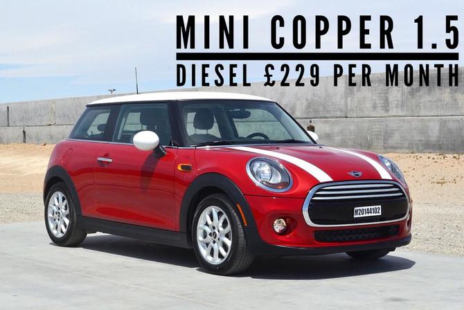 Mini Cooper 1.5D £229 per month