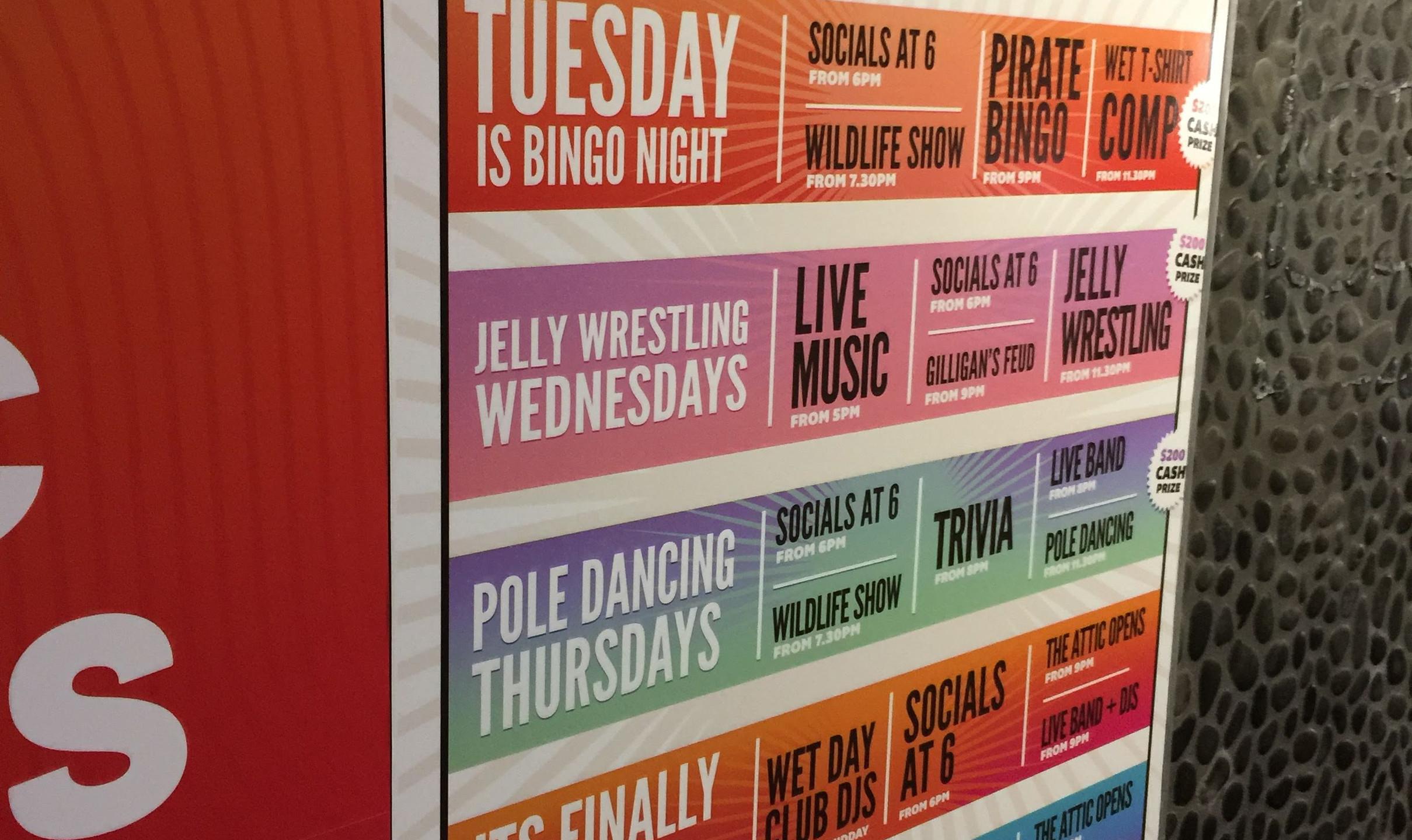 Gilligan's Weekly Activities