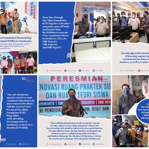 Sinar Mas and Eka Tjipta Foundation Renovating Three Vocational Schools (SMK) in Surakarta