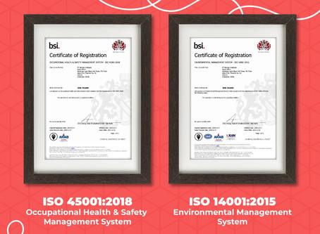 PT Borneo Indobara Raih Sertifikasi dari British Standards Institute untuk Aplikasi iSafe
