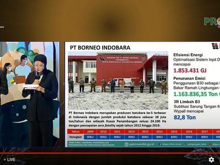 PT Borneo Indobara Kembali Raih Proper Nasional Hijau dari KLHK