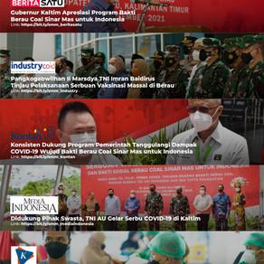 Media Coverage of 'Serbuan Vaksinasi TNI AU' with Berau Coal and Sinar Mas in Berau, Kalimatan Timur
