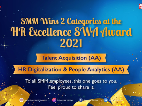 Sinar Mas Mining Wins 2 Categories at the HR Excellence SWA Award 2021