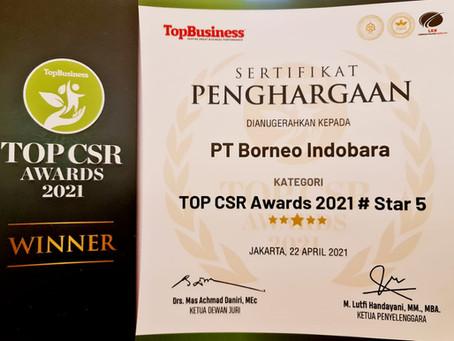 Borneo Indobara Raih 3 Penghargaan dalam TOP CSR Awards 2021