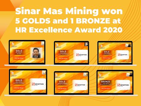 Sinar Mas Mining Raih Penghargaan 5 Gold dan 1 Bronze di Ajang HR Excellence Awards 2020