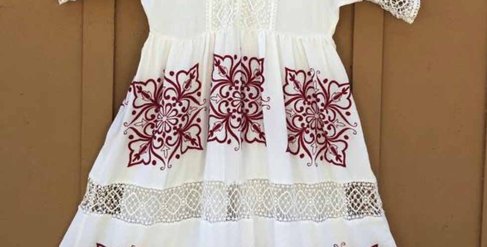 Authentic Mexican Hand embroidered Dress