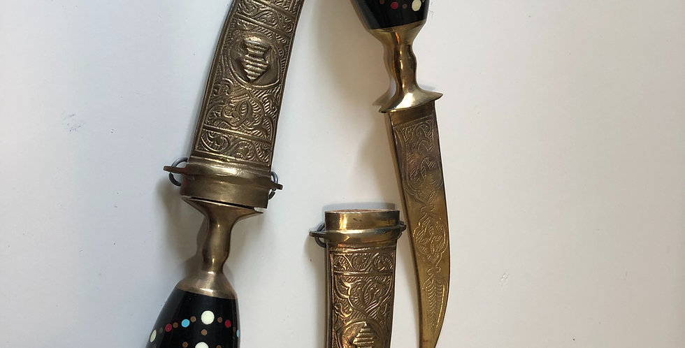Two Elaborate Engraved Asian knifes