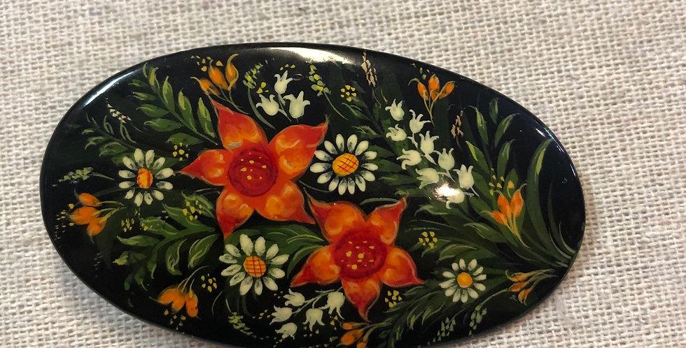 Handpainted Russian Pin