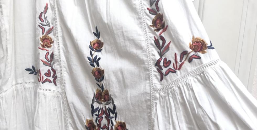 Perfect Embroidery Ruffle Free People dress