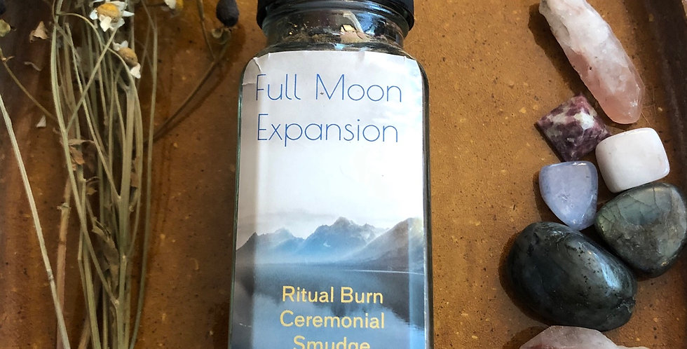 Full Moon Expansion Handmade ceremony Smudge