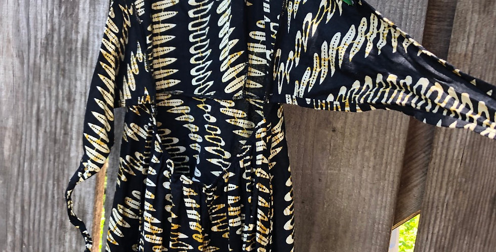 Sweet Nigerian open tie back Sun Dress
