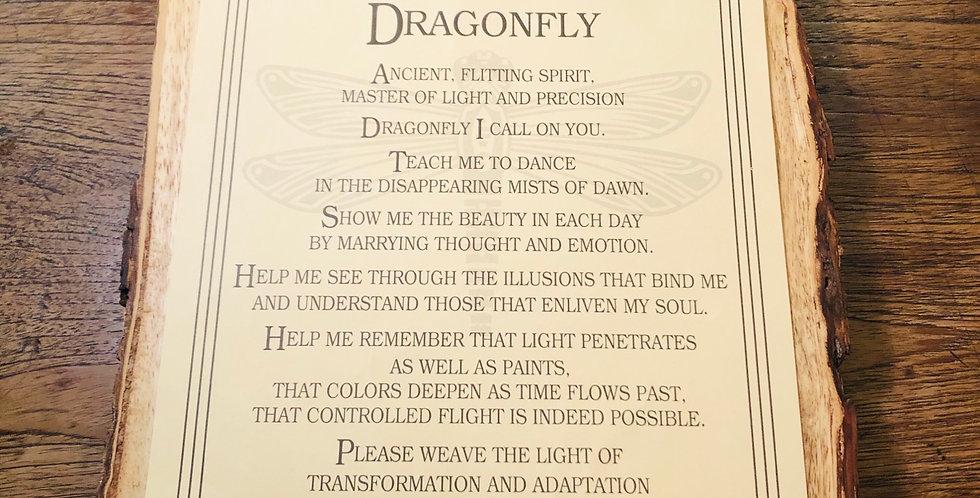 Dragonfly Prayer Laminated