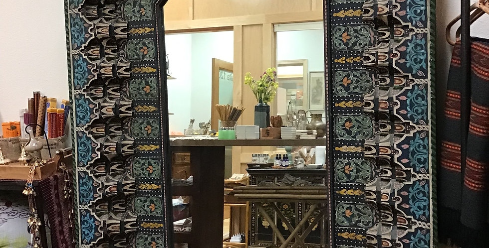 Vintage Indonesian Handcarved Wall Mirror