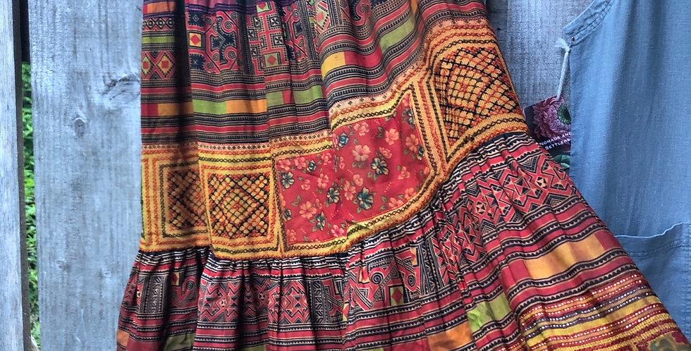 Thai patchwork Dancing Skirt