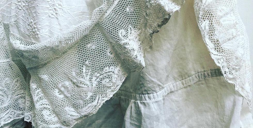 Antique Lace & Cotton Prairie Skirt