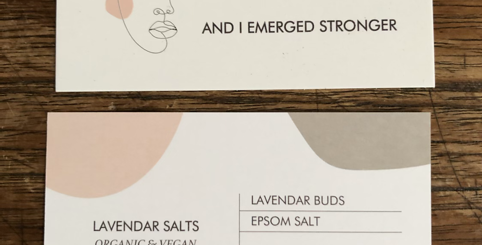 Organic Lavender and Epsom Salts