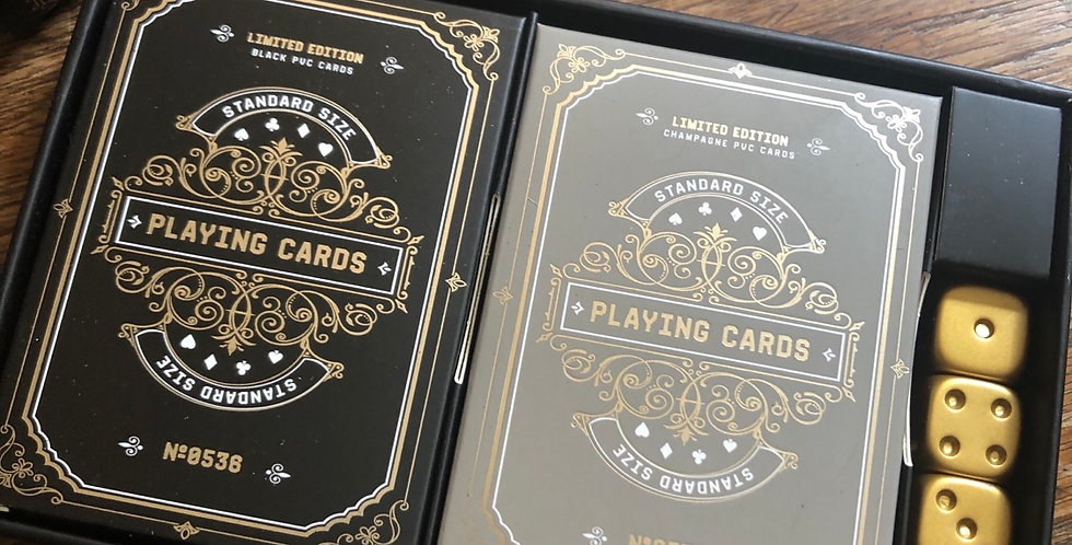 Double Deck with Dice gift set