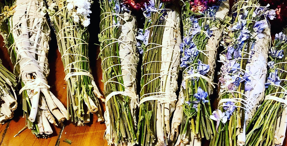 IN THE ROUGH Organic and sustainable California Sage stick with Flowers
