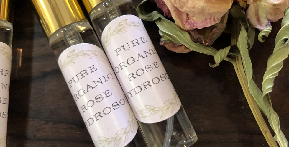 Purse size Rose Hydrosol Spritzers set of 10
