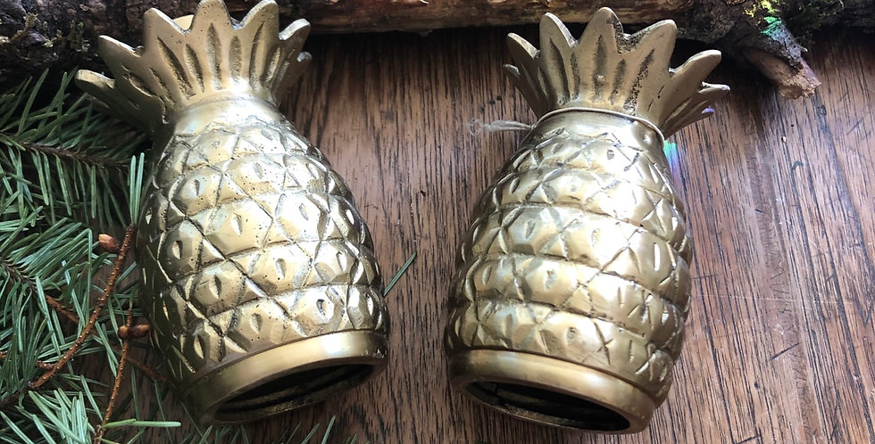 Pineapple Brass Candle Sticks