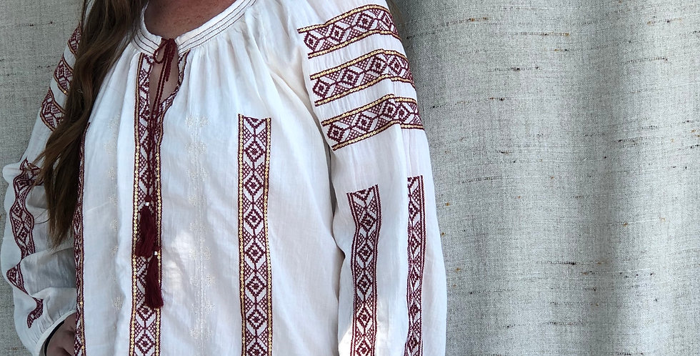 Hungarian inspired Embroidery Blouse