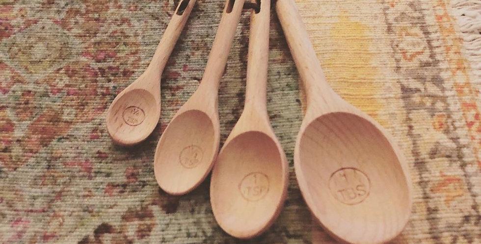 Wood Measuring Spoons